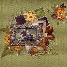 Layout using the Gather Collection by Designs by Helly