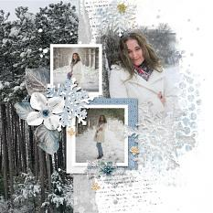 Layout using ScrapSimple Digital Layout Collection:winter is coming