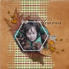 """Playing In Leaves"" #digitalscrapbooking layout by AFT Designs - Amanda Fraijo-Tobin using Cranberry Crisp Kit"