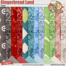Gingerbread Land Papers by Silvia Romeo