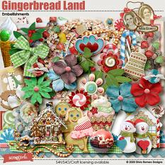 Gingerbread Land Embellishments by Silvia Romeo