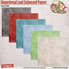 Gingerbread Land Embossed Papers by Silvia Romeo