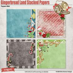 Gingerbread Land Stacked Papers by Silvia Romeo