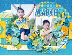 2021 Quick pages Calendars - March by HeartMade Scrapbook