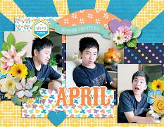 2021 Quick pages Calendars - April by HeartMade Scrapbook