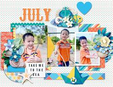 2021 Quick pages Calendars - July by HeartMade Scrapbook