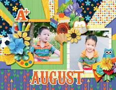 2021 Quick pages Calendars - August by HeartMade Scrapbook