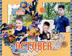 2021 Quick pages Calendars - October by HeartMade Scrapbook