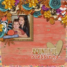 Bountiful Blessings Layout