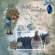 Go Tell It On The Mountain digital scrapbooking layout featuring Call Of Winter Collections
