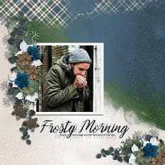 """Frosty Morning"" digital scrapbooking layout using Winter Wishes Collections Carmel Munro"