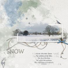 Snow digital scrapbooking layout featuring Call Of Winter Collections