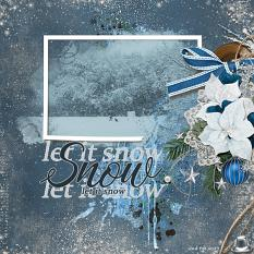 Let It Snow digital scrapbooking layout featuring Winter Wishes Collections