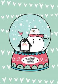 Card created using Snow Globe Builder Brushes and PNGs