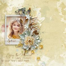 Layout using ScrapSimple Digital Layout Collection:enjoy the moment