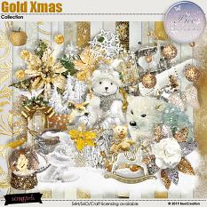 Gold Xmas Collection by BeeCreation