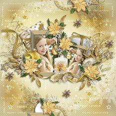layout using Gold Xmas by BeeCreation