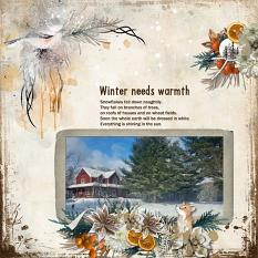 Layout using ScrapSimple Digital Layout Collection:The Warmth Of Winter