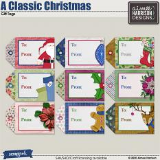 A Classic Christmas Gift Tags