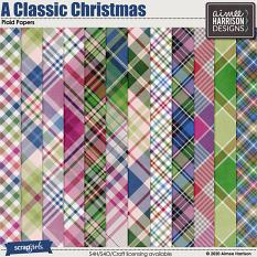 A Classic Christmas Plaid Papers