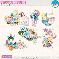 Sweet unicorns - clusters pack 2 by HeartMade Scrapbook
