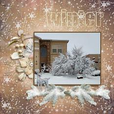Layout using Winter Walk Collection