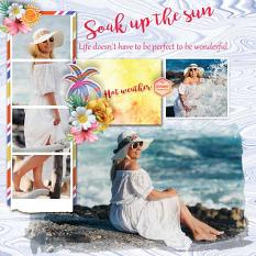 Layout using Sunny side up by HeartMade Scrapbook