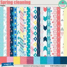 Spring cleaning - papers by HeartMade Scrapbook