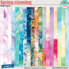 Spring cleaning - magic papers by HeartMade Scrapbook