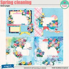 Spring cleaning - quick pages by HeartMade Scrapbook