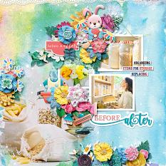 Layout using Spring cleaning by HeartMade Scrapbook