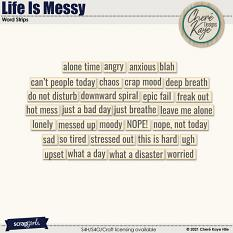 Life Is Messy Word Strips