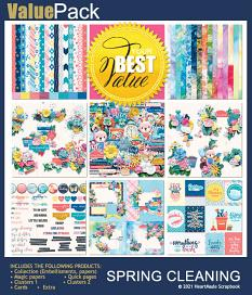 Value Pack: Spring cleaning - by HeartMade Scrapbook