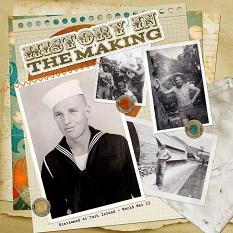 """""""History in the making"""" layout by Shalae Tippetts"""