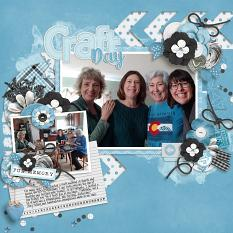 Paint Chips Glacier Blue by Connie Prince CT Layout