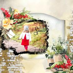 layout using floralie mask by Florju Designs