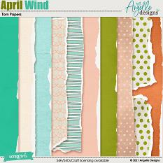 April Wind. Torn Papers by Angelle Designs