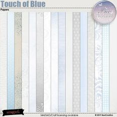 Touch of Blue Papers