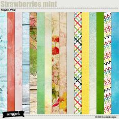 Strawberries mint Papers 2