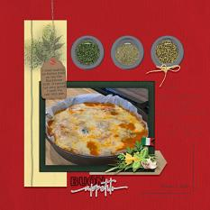"""""""Buon Appetito"""" digital scrapbook layout showcases Global Gourmet: Italian Collection"""
