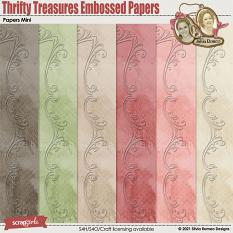 Thrifty Treasures Embossed Papers by Silvia Romeo