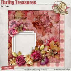 Thrifty Treasures Easy Page by Silvia Romeo