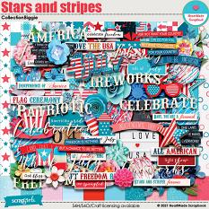 Stars And Stripes - collection biggie by HeartMade Scrapbook
