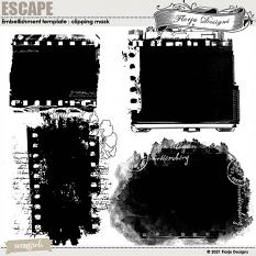 Escape Embellishment template : Clipping mask by Florju Designs