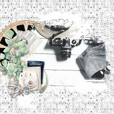 Escape Embellishment template : Clipping mask Scrapbook Page by Florju Designs