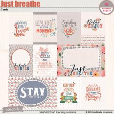 Just breathe - cards by HeartMade Scrapbook