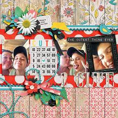 Layout by Joanna using Just Too Cute Collection Biggie