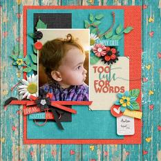 Layout by Kathryn using Just Too Cute Collection Biggie