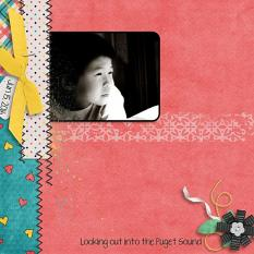 Layout by Penny using Just Too Cute Collection Biggie