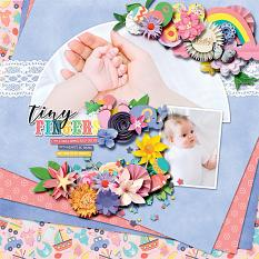 Layout using Baby shower: girl by HeartMade Scrapbook
